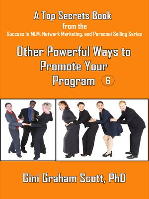 cover image of Top Secrets for Other Powerful Ways to Promote Your Program