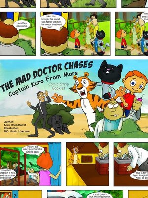 cover image of The Mad Doctor Chases Captain Kuro From Mars Comic Strip Booklet