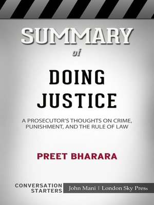 cover image of Summary of Doing Justice