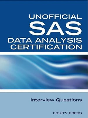 cover image of SAS Statistics Data Analysis Certification Questions