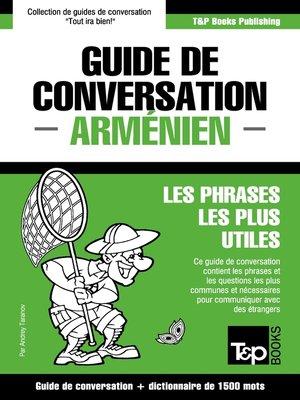 cover image of Guide de conversation Français-Arménien et dictionnaire concis de 1500 mots