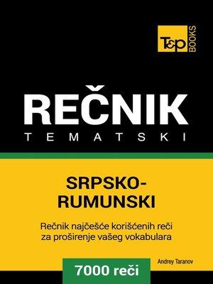 cover image of Srpsko-Rumunski tematski rečnik