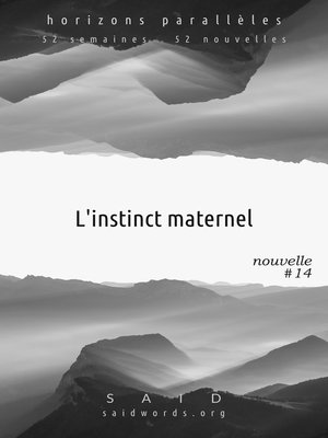cover image of L'instinct maternel