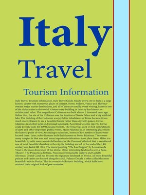 cover image of Italy Travel