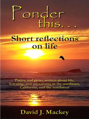 cover image of Ponder This . . . Short Reflections On Life