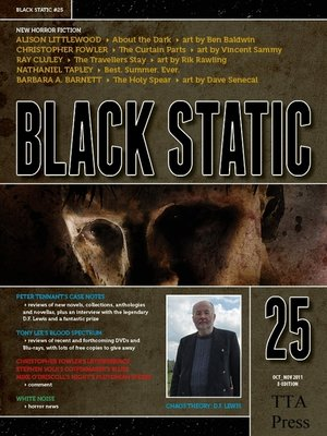 cover image of Black Static #25 Horror Magazine