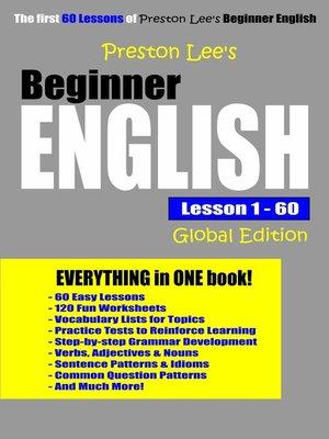 cover image of Preston Lee's Beginner English Lesson 1