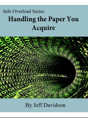 cover image of Handling the Paper You Acquire