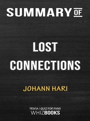 cover image of Summary of Lost Connections