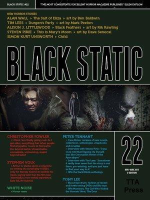 cover image of Black Static #22 Horror Magazine