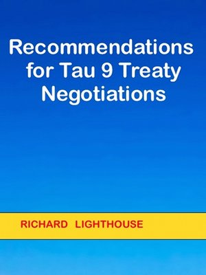 cover image of Recommendations for Tau 9 Treaty Negotiations