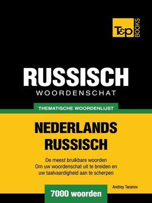 cover image of Thematische woordenschat Nederlands-Russisch