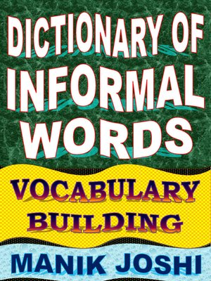 cover image of Dictionary of Informal Words