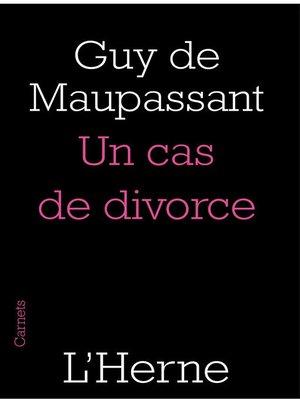 cover image of Un cas de divorce