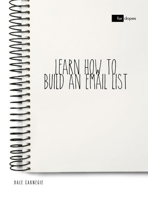 cover image of Learn How to Build an Email List