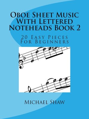 cover image of Oboe Sheet Music With Lettered Noteheads Book 2