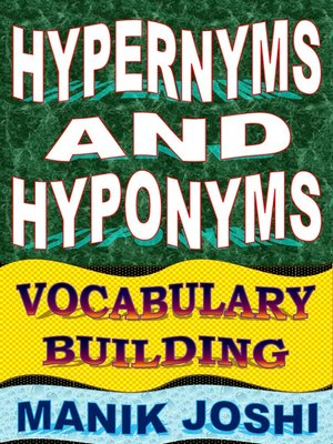 cover image of Hypernyms and Hyponyms