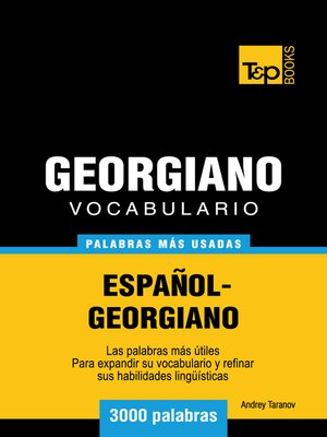 cover image of Vocabulario Español-Georgiano