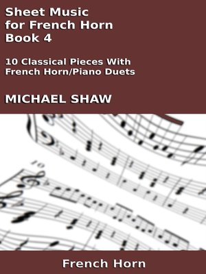 cover image of Sheet Music for French Horn