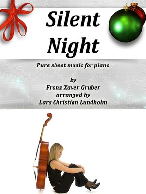 cover image of Silent Night Pure sheet music for piano by Franz Xaver Gruber arranged by Lars Christian Lundholm