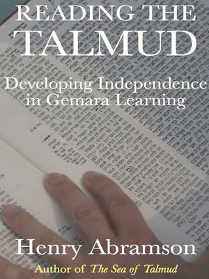 cover image of Reading the Talmud