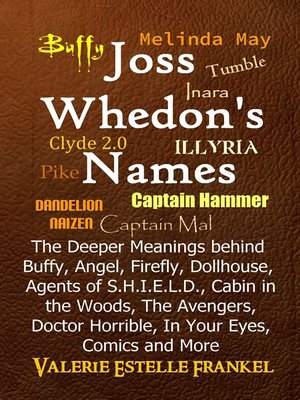 cover image of Joss Whedon's Names the Deeper Meanings behind Buffy, Angel, Firefly, Dollhouse, Agents of S.H.I.E.L.D., Cabin in the Woods, the Avengers, Doctor Horrible, In Your Eyes, Comics and More