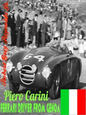 cover image of Piero Carini Ferrari Driver From Genoa