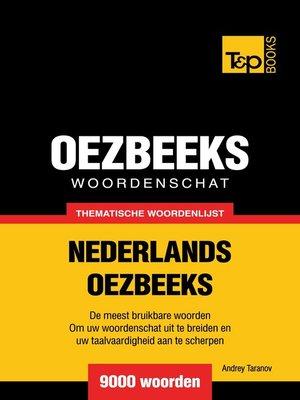 cover image of Thematische woordenschat Nederlands-Oezbeeks