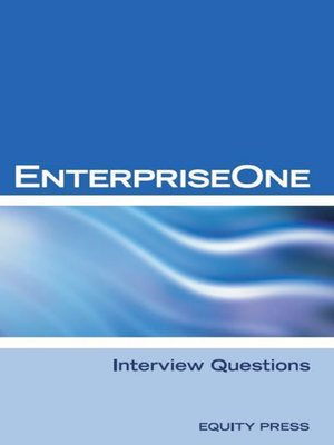 cover image of EnterpriseOne Interview Questions