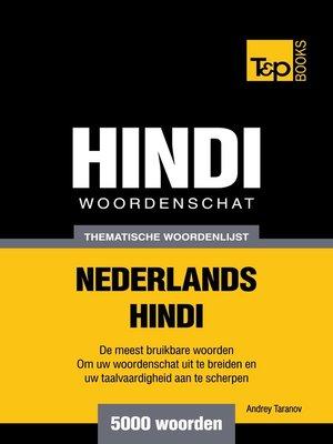 cover image of Thematische woordenschat Nederlands-Hindi