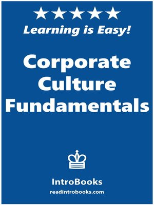 cover image of Corporate Culture Fundamentals