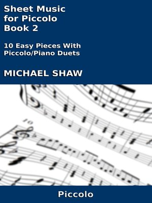 cover image of Sheet Music for Piccolo