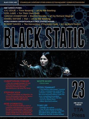 cover image of Black Static #23 Horror Magazine