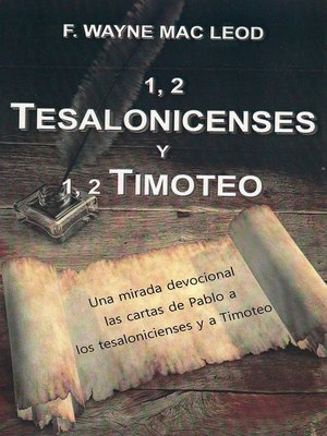 cover image of 1, 2 Tesalonicenses y 1, 2 Timoteo