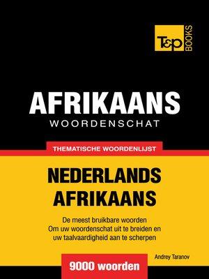 cover image of Thematische woordenschat Nederlands-Afrikaans