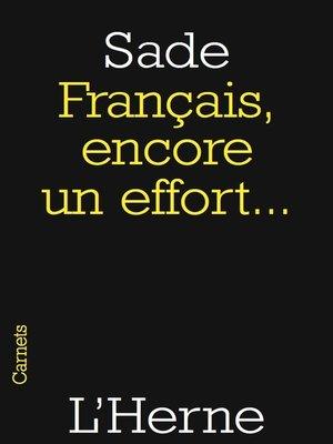 cover image of Français, encore un effort...