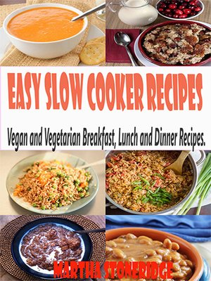 cover image of Easy Slow Cooker Recipes