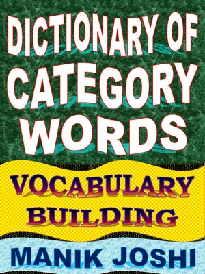 cover image of Dictionary of Category Words
