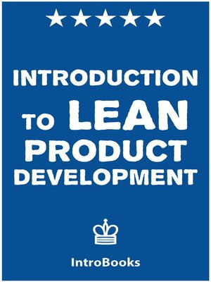 cover image of Introduction to Lean Product Development