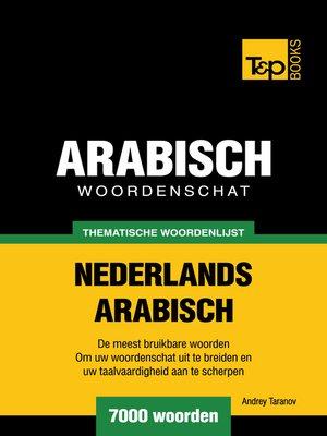 cover image of Thematische woordenschat Nederlands-Arabisch
