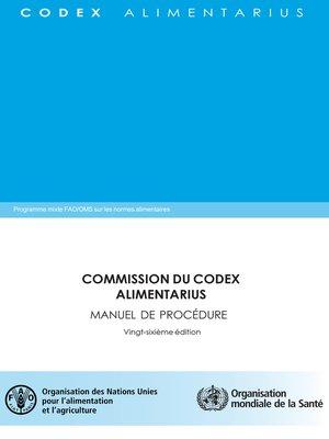 cover image of Commission du Codex Alimentarius