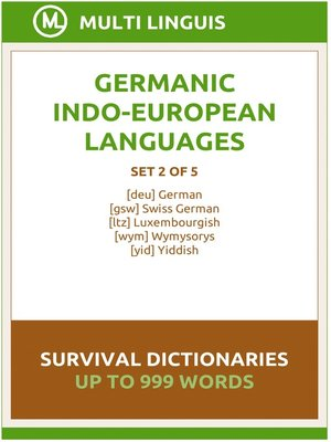 cover image of Germanic Languages Survival Dictionaries (Set 2 of 5)