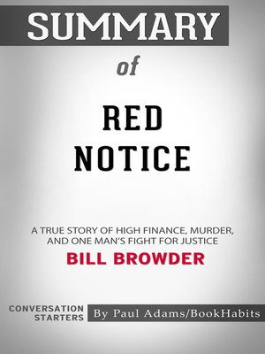 cover image of Summary of Red Notice