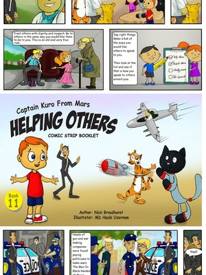 cover image of Captain Kuro From Mars Helping Others Comic Strip Booklet