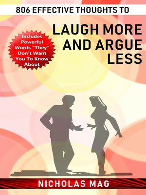 cover image of 806 Effective Thoughts to Laugh More and Argue Less