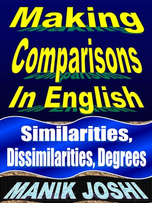 cover image of Making Comparisons in English