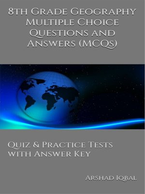 cover image of Grade 8 Geography Multiple Choice Questions and Answers (MCQs)