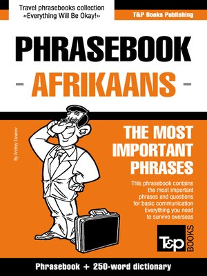 cover image of Afrikaans Phrasebook