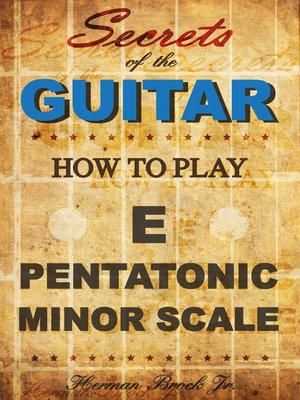 cover image of How to play the E pentatonic minor scale