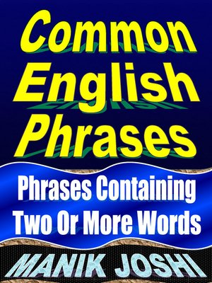 cover image of Common English Phrases